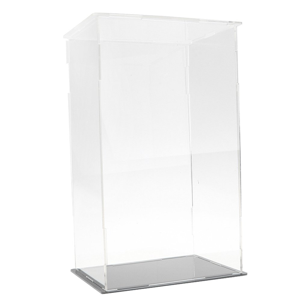 Homyl Clear Acrylic Display Show Case Box Perspex Dustproof Protection for Figures Diecast Vehicle Car Doll Model Figurine Collection (5.31x4.33x9.25 '' )