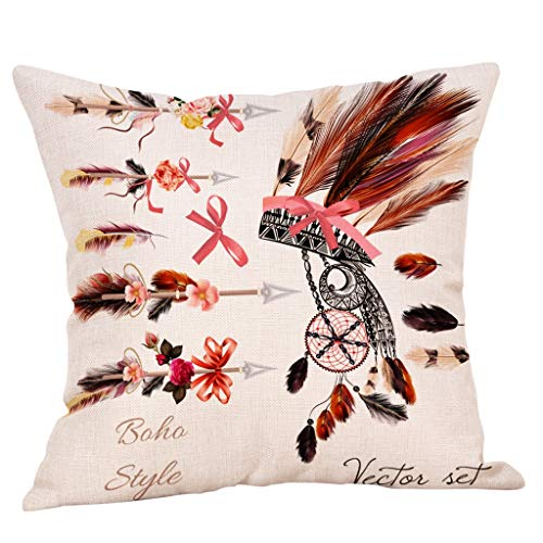 Pillow case Covers with Zipper Standard,EOWEO Decorative Upholstery Cushion Cover Cozy Throw Pillow Cases from EOWEO
