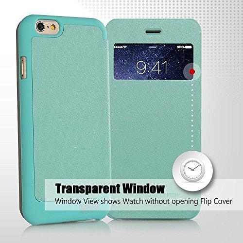 iPhone 5C/5S/SE Hülle, [WOW] VENTER® [Tropfen Schutz] Auto Ansicht Fenster Flip Cover [Stoßdämpfung ] für iPhone 5C/5S/SE