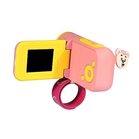Sharplace Compacto Digital Niños Juguete Cámara Videocámara Video Grabadora Mini - Rosado
