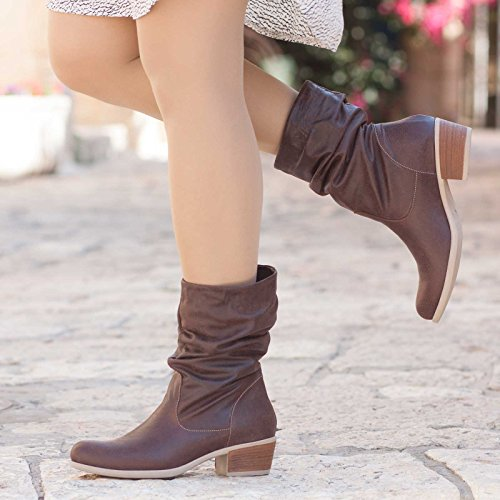 Women's Leather Boots by Bangi Shoes