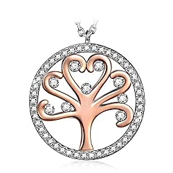 Tree of Life Crystal Christmas Necklace Gifts