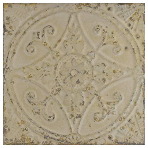 SomerTile FPESAJB Murcia Ceramic Floor and Wall Tile, 13'' x 13'', Blanco by SOMERTILE (Image #1)
