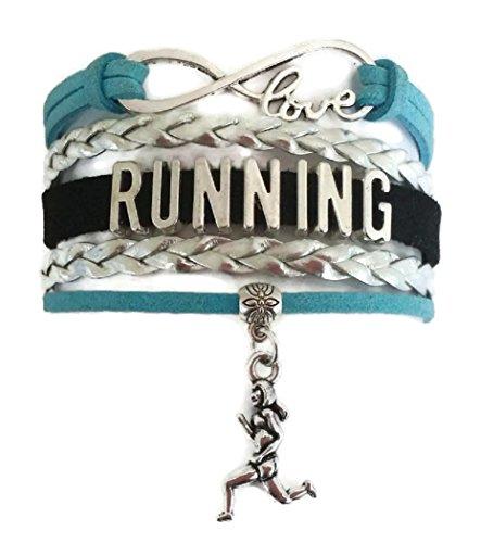 Kit's Kiss Running Bracelet, Runner Bracelet, Running Jewelry, Marathon Jewelry, Marathon Bracelet, Sports Bracelet, Gift for Women, Gift for Runner, Love Infinity Bracelet, Running Leather Bracelet