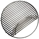 """soldbbq 18 1/2"""" Dia, Stainless Steel Round Grid Single Side Hinged Cooking Grate Replacement for Large Big Green Egg, Char-Griller,Kamado Joe,Vision Grill VGKSS-CC2, B-11N1A1-Y2A Gas Grill"""