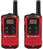 Motorola 59T40PACK - Walkie-talkie radio emisor y receptor PMR, rojo