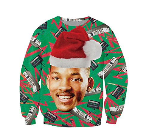 KSJK Unisex Funny Men Ugly Christmas Sweater Jumper ,Medium,KMAX011,Medium for $<!--$29.99-->