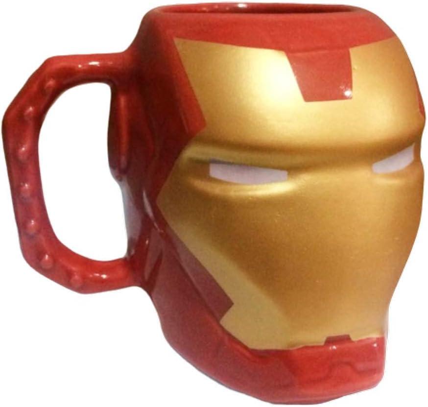 Caneca Cerâmica 3D Homem de Ferro 400 ml por Zona Criativa