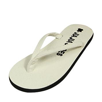 Damen Strand Beach Pantoletten Sandalen Zehentrenner Flip Flops Weiß 39 N7D569UCOL