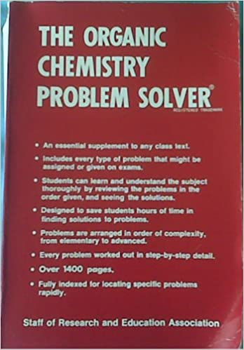 organic chemistry problem solver dr m fogiel amazon com books
