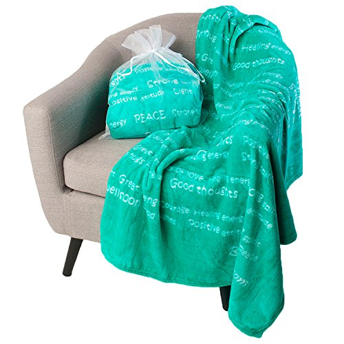 BlankieGram Healing Thoughts Blanket (Teal) ()