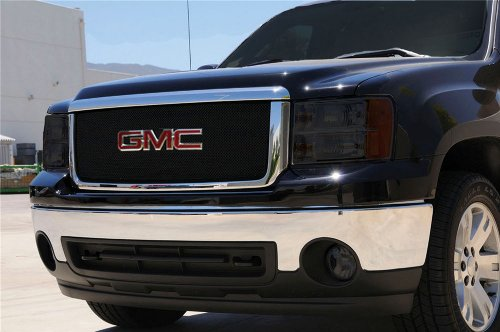 TRex Grilles 46204 Small Mesh Steel Black Finish Sport Grille Overlay for GMC Sierra 1500