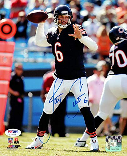 Signed Jay Cutler Photograph - 8x10 Stock #102501 - PSA/DNA Certified - Autographed NFL Photos