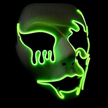 Amazon.com: Circle Circle El Wire Glowing Mask Luminous LED Light Up ...