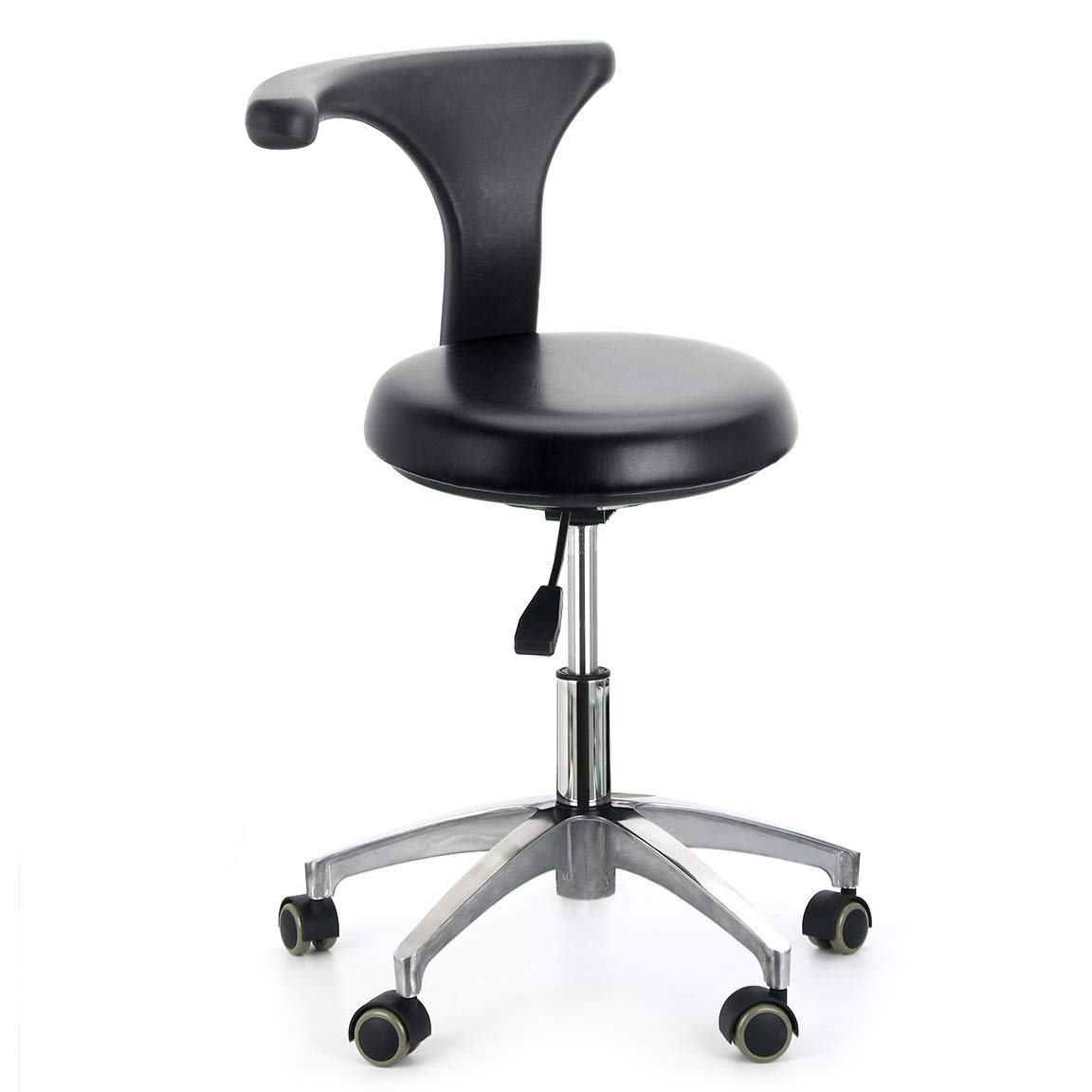 AZDENT Ergonomic Medical Doctor Stool Dentist Swivel Rolling Chair with Back Foot Rest Adjustable Dentist Stool Dental Clinic Spa Massage Salon by AZDENT
