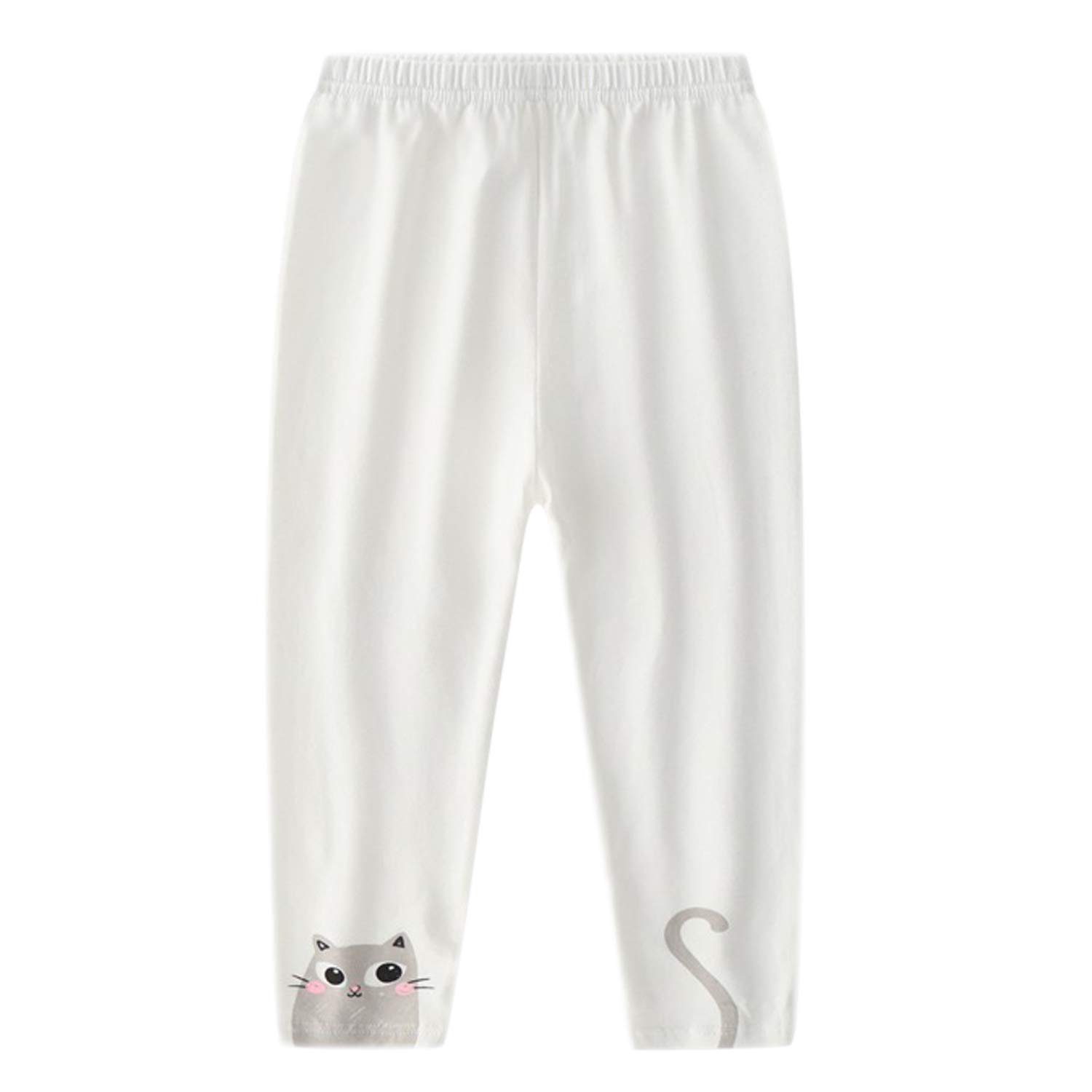 Evelin LEE 4 Packs Baby Girls Cotton Stretchy Tapered Pants Cute Skinny Pajamas Leggings by Evelin LEE (Image #3)