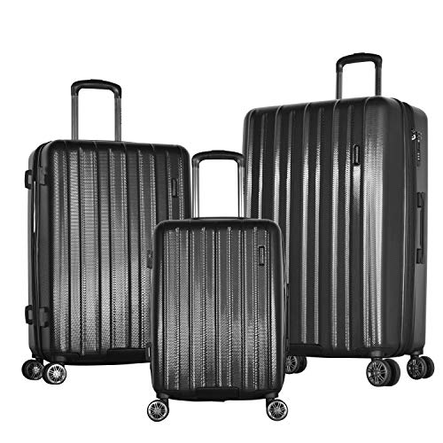 Olympia Comet 3-Piece Exp. Hardcase Spinner Set, Black (Olympia Usa Corsair Expandable Hardcase Spinner Set Reviews)