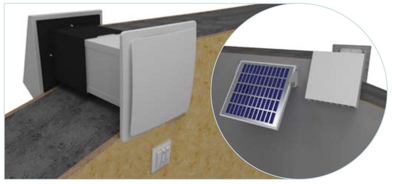 Dispositivo de ventilación, Vital ventilación, colgante Ventilador Twin Fresh SA60 Solar Pro: Amazon.es: Iluminación