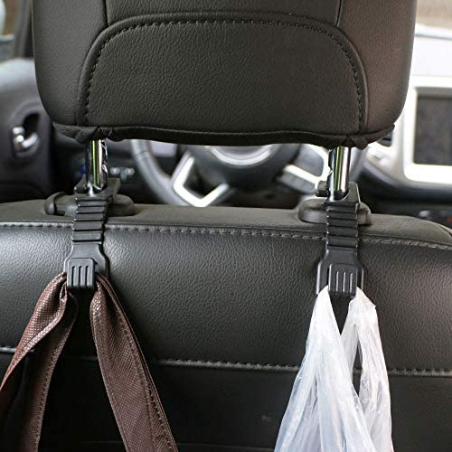 Wallets Black Mieziba 2 Pack Car Hooks Headrest Hook Seat Hanger Storage for Hanging Handbags Clothes and other