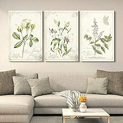 Charming Technique, 3 Panel Vintage Style Plants and Flowers x 3 Panels, Made to Last