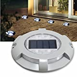 Outdoor 4 LED Solar Powered Light Road Path Driveway Dock Ground Lamp