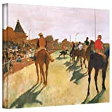ArtWall 'The Parade or Race Horses in Front of The Stands' Gallery-Wrapped Canvas Artwork by Edgar Degas, 24 by 32-Inch