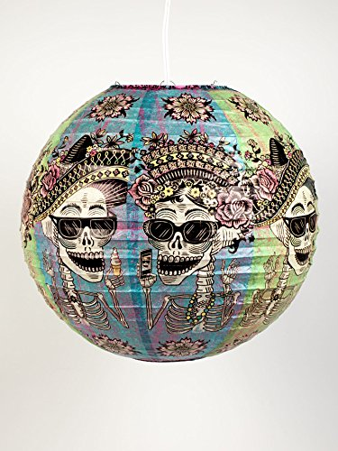 Blue Q Paper Lantern, Day of The Dead -