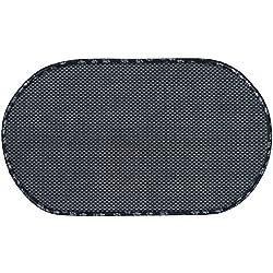 Envision Home - Alfombrilla de Microfibra para tazón de Mascotas, Negro