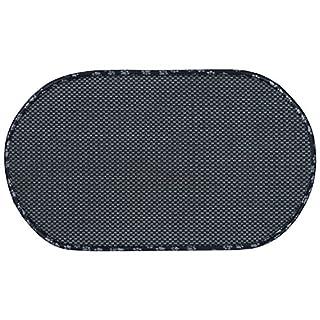 Envision Home 443301 Microfiber Pet Bowl Mat, 12.5 Inch x 21.5 Inch, Black