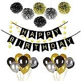 38PCS Happy Birthday Party Decorations Set with Happy Birthday Banner,6pcs ...