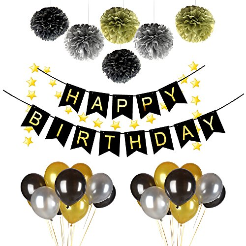 38pcs-happy-birthday-party-decorations-set-with-happy-birthday-banner6pcs-black-gold-silver-fluffy-p