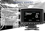 AUTOOL X50 PRO Multi-Function Car OBD Smart Digital Meter & Alarm Fault Code Water Temperature Gauge Digital Voltage Speed Meter Display Support 12V OBDII Diesel Vehicles (X50 PRO)