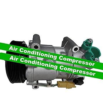 GOWE compresor de aire acondicionado para coche Citroen C3 C4 Puegeot 207 307 308 6453qj/6453qk/6453wk 6453 WL/9651910980 71216280 9659875780: Amazon.es: ...