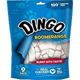 Dingo Rawhide Free Boomerang, 9 treats per bag (2 Bags)