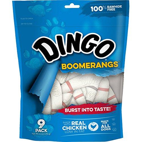Dingo Rawhide Free Boomerang, 9 treats per bag (2 Bags)