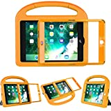 LEDNICEKER Kids Case for iPad Mini 1 2 3 4 5 - Built-in Screen Protector Light Weight Shock Proof Handle Friendly Convertible Stand Kids Case for iPad Mini, Mini 5, Mini 4, Mini 3, iPad Mini 2- Orange
