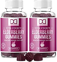 Sambucus Elderberry Gummies with Zinc Vitamin C for Adults Kids for Black Elderberry Immune Support System Vitamins,...