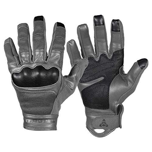 Magpul Core Breach Tactical Leather Gloves, Charcoal, X-Large