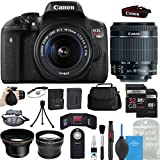 Canon EOS Rebel T6i DSLR Camera w/18-55mm IS STM Lens + 58mm HD Wide Angle Lens + 2.2x Telephoto Lens + TWO 32GB Memory Cards + Backpack Case + Grip Strap + DigitalAndMore PRO Bundle Kit