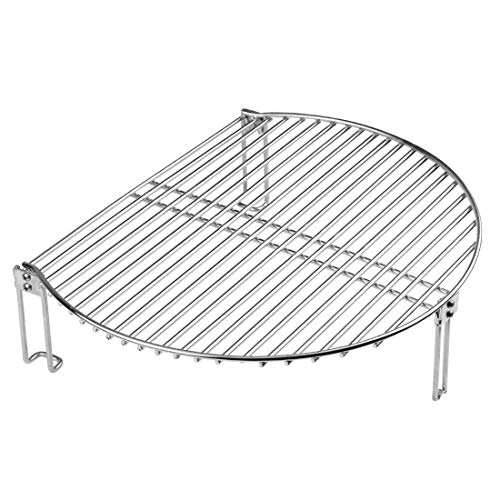 Dracarys Grill Expander Rack Stack Rack for Big Green Egg Stainless Steel BBQ Lover Gifts Fit Large & XL Big Green Egg, Kamado Joe,18