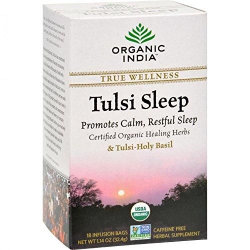 Organic India, Tulsi Sleep Tea, Caffeine-Free, 18 Infusion Bags, 1.14 oz (32.4 g) by Organic India