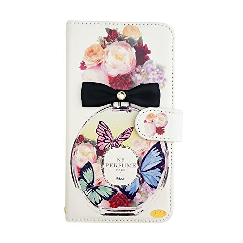 Galaxy S7 edge (5) flip case Perfume II (Butterfly) Wallet Case Kickstand Slim Fit Heavy Duty Protection Screen Protector Bottle EDT EDP Flower Fragrance Verizon AT&T Sprint T-Mob