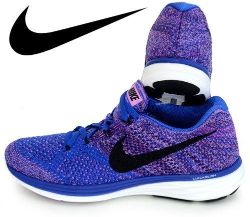 Nike Women's Wmns Flyknit Lunar3, GAME ROYAL/BLACK-FUCHSIA FLASH-VIVD PURPLE, 7 US