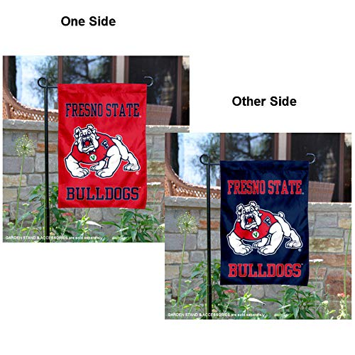 College Flags and Banners Co. Fresno State Bulldogs Dual Logo Garden Flag