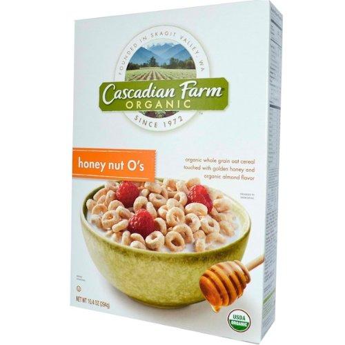 Cascadian Farm Cereal, 95% organic, Honey Nut O's, 9.5 oz (pack of 12) by Cascadian Farm