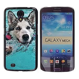 EJOY---Cubierta de la caja de protección la piel dura para el ** Samsung Galaxy Mega 6.3 ** --Feliz Husky
