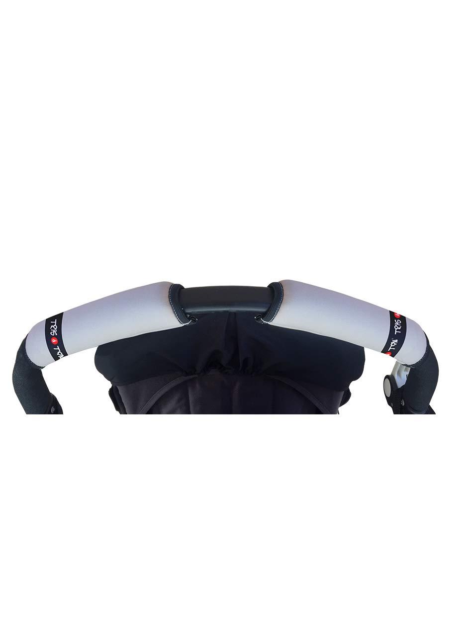 Tris & Ton - Funda cubre asa horizontal universal, empuñadura fundas mango para silla de paseo manillar para cochecito carrito bebe. ¡Distintos diseños! (Fabricado 100% en España) (Azul Cielo)