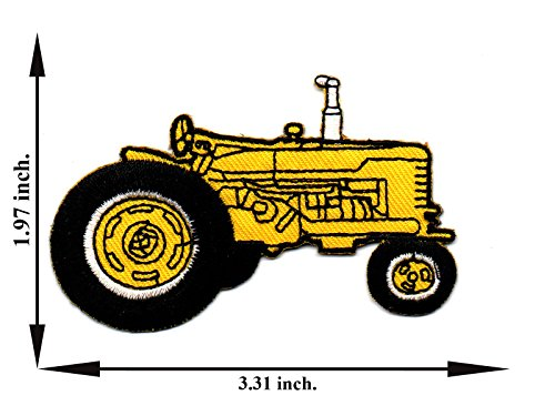 Embroidered Tractor - Tractor Kubota Yellow Embroidered Applique Iron on Patch T-shirt Cap Jeans Bag
