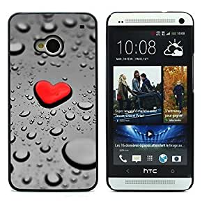 Graphic4You Red Heart Raindrops Design Hard Case Cover for HTC One (M7) by icecream design