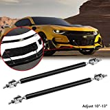 "Xotic Tech 2pcs Adjustable 10""-13"" Front Bumper Lip Splitter Diffuser Strut Rod Tie Bar Fit Most Vehicles, Black"